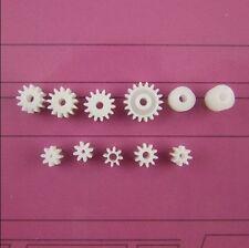 11pcs Plastic 9 Motor Axis Gear Set 2 Worm Gear Wear-resisting DIY Toy Part K002