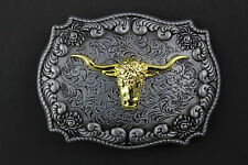 LONGHORN BULL HEAD BELT BUCKLE METAL WESTERN COWBOY COUNTRY HORSE RIDING