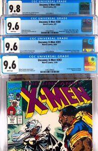 Uncanny X-men # 280 281 283 300 CGC  9.6 9.8 -  4 Comic Lot 1 Set