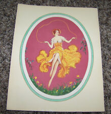 """Vintage Antique Marcel Leboulte Boudoir 8"""" X 10"""" Art Print 1930 The Butterfly"""