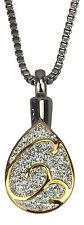 Goldene Träne Urne Halskette  Gedenk Asche Andenken  Feuerbestattung Schmuck