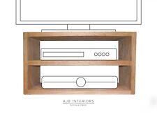 Any size Solid oak media tv unit Sky box DVD storage UK handmade furniture