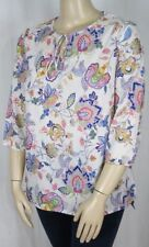 Paisley 3/4 Sleeve Tunic Machine Washable Tops & Blouses for Women
