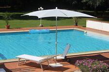 Maffei sombrilla Dama blanco Art.25 estaca central cm 250x250/8 hecho en italia