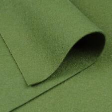 Woolfelt Olive Green ~ 22cm x 90cm / quilting wool felt vintage camouflage army