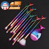 11PCS Colorful Pro Makeup Brushes Set Powder Foundation Eyeshadow Brush Tool New
