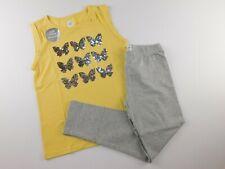 NWT GAP Girl's 2 Pc Flip Sequin Yellow Tank Top/Leggings L/10-11 Yrs New