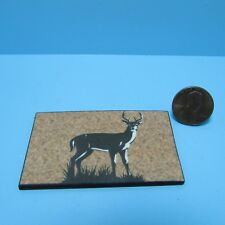 Dollhouse Miniature Welcome Mat with Deer / Great for Cabin ~ HW475K
