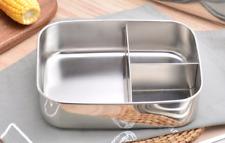 1000ML Edelstahl Proviantdose Lunchbox Brotdose mit 3 Fächern 16cm NEU