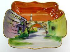 Noritake Landscape Scenery Gold Trim 5.5 Candy Trinket Dish Japan EUC