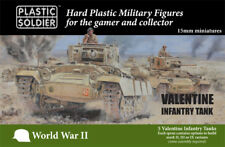 WW2V15034 15MM BRITISH VALENTINE TANK - PLASTIC SOLDIER COMPANY - SENT 1ST CLASS