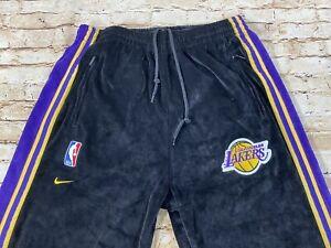 Nike Team Los Angeles Lakers Snap button Warm up Pants Size M Kobe Lebron James