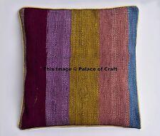 Indian Stripe Cotton Pillow Case Chindi Cushion Pillow Cover Handmade Home Decor