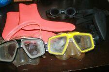 Lot of 5 Scuba Diving Snorkeling Masks Goggles U.S. Divers Speedo