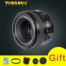 UK Yongnuo YN50mm F1.8 Large Aperture MF AF Auto Focus Lens For Nikon With Gift
