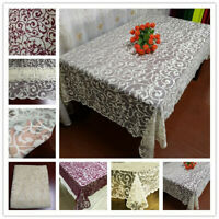 Vintage Lace Tablecloth Knitted Hook Floral Table Cover Wedding Party Decor