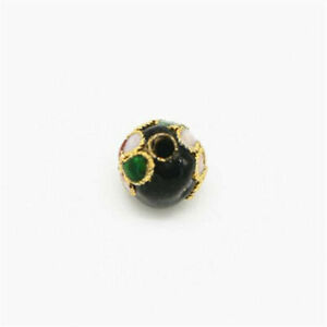 5PCS Cloisonne Enamel Round Spacer Loose Bead Jewelry Finding 6mm / 8mm