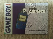 Game Boy Camera - Game Boy GB Instruction Manual Only