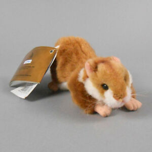 """Hansa Crouching Hamster Stuffed Plush 6.5"""" Inches 3738 New with Tags"""