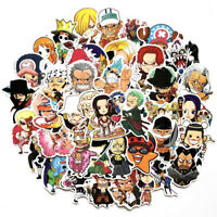 60PCS One Piece Stickers Skateboard Sticker Graffiti Laptop Car Luggage Decals