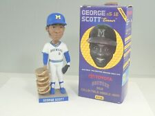 2013 Milwaukee Brewers George Scott White Jersey Bobblehead In Box