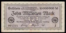 Ratzeburg -Kreis Lauenburg- 10 Millionen Mark vom 15.08.1923