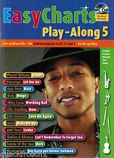 Bläser in Bb, Es und C Noten : EASY CHARTS 5 - mit CD playalong - leMittel