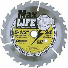 "Oldham -Max Life 5-1/2"" 24 Tth ATB Cordless Saw Blade with 5/8"" Arbor"