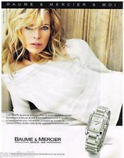 PUBLICITE ADVERTISING 095  2007  BAUME & MERCIER avec KIM BASINGER  montre diama