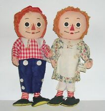 """Vintage Rare Early 9"""" Knickerbocker Raggedy Ann & Andy Bend-Ems Made In Japan"""