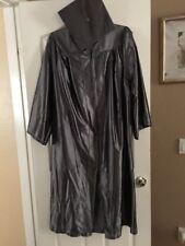 """Herff Jones Unisex Gray Shiny Zip Up Graduation Gown 5' 7"""" 5' 8"""""""