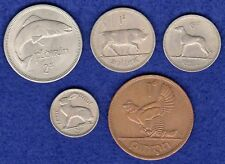 Ireland, Year Set of 5x 1968 Irish Coins, Florin to Penny (Ref.t1459)