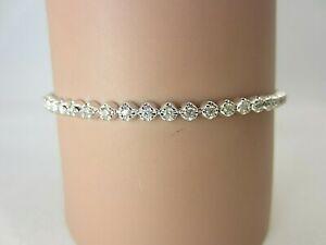 14k White Gold and 1.32 ct Diamond Tennis Bracelet