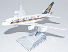 16cm Singapore Airline A380  Die Cast Metal Desk Aircraft Plane Model UK