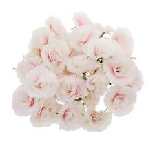 Lot de 50 Fleur Rose Artificielle Corolle Décoration Mariage Maison Blanc