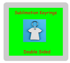 25 x MDF Sublimation Double Sided T Shirt Keyrings