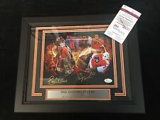 RON HEXTALL BERNIE PARENT AUTO PHILADELPHIA FLYERS 11X14 FRAMED PHOTO W/JSA COA