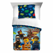 Bedding Sets For Boys Lego Movie Twin Full Comforter Microfiber Reversible Sham