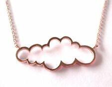 STERLING SILVER ROSE GOLD VERMEIL CLOUD OUTLINE NECKLACE -NEW SEASON'S STYLE !