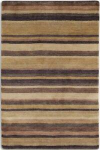 STRIPED REGATTA REG04 Brown Beige QUALITY Modern Handmade Wool Rugs Runner -40%