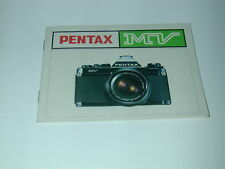 NOTICE PENTAX MV  en ANGLAIS photo photographie