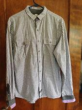 English Laundry L  Men's Plaid Long Sleeve Shirt