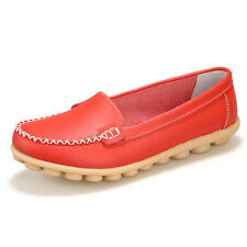Womens Casual Flats Leather Shoes Oxfords Lazy Loafers Peas Ballet Boat Comfort
