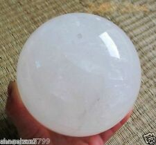 NATURAL CLEAR QUARTZ CRYSTAL SPHERE BALL HEALING GEMSTONE 100MM +stand
