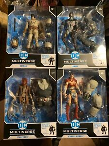 DC Multiverse LAST KNIGHT ON EARTH COMPLETE SET Batman Bane Scarecrow Free Ship