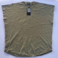 ZARA Man Oversized Sleeveless Shirt Brown/Green Men's Size Medium