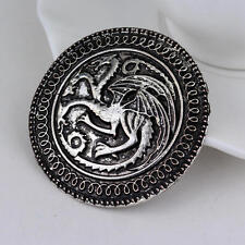 New Vintage Fly Dragon Badge Pin Alloy Round Brooch Men Garment Accessories 2018
