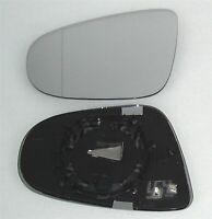 Miroir de Verre Gauche Pour vw Touran à partir de 05/2009 Asphérique Chauffé