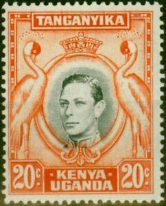 K.U.T 1941 20c Black & Orange SG139a P.14 Fine Very Lightly Mtd Mint