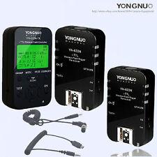 YongNuo TTL 1PCS YN-622N-TX+ 2PCSYN-622N transceivers + 2 cables for Nikon
